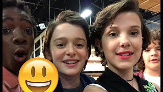 Stranger Things Cast 😊😊😊 - CUTE AND FUNNY MOMENTS 2017