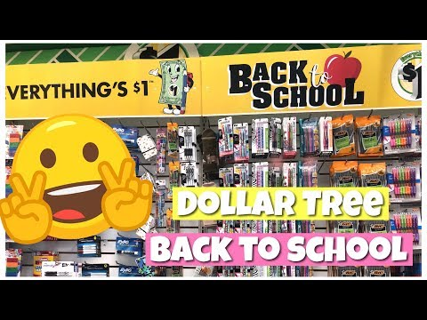 BACK TO SCHOOL SHOPPING AT DOLLAR TREE