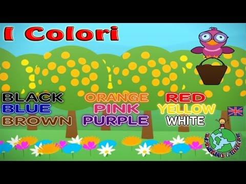 IMPARIAMO L'INGLESE:  I COLORI con LITTLE BIRD - Video educativi e divertenti  per il tuo bambino