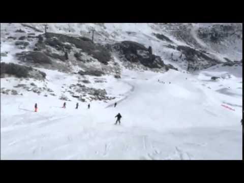 Ian Prior skiing in Obertauern.