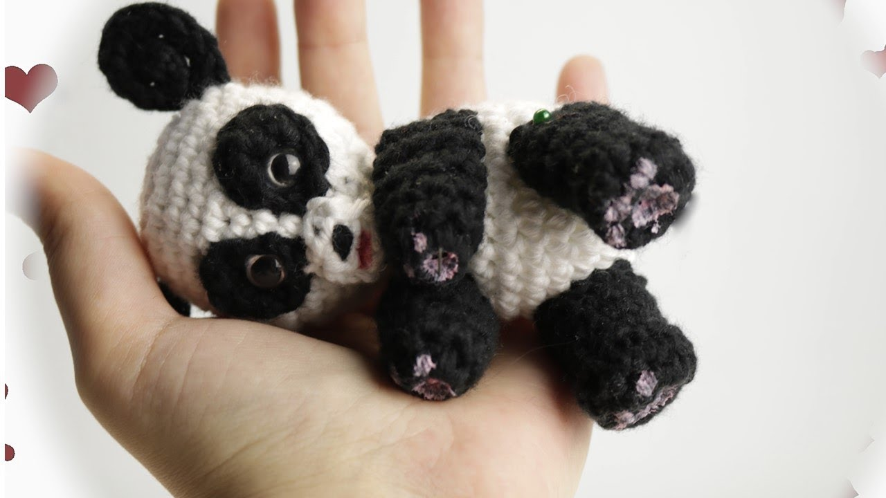 Amigurumi Oso Panda Patron : Oso panda amigurumi crochet paso a paso youtube