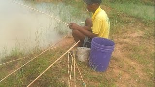 Traditional Fishing phnom penh In Cambodia-Fishing  in lake-best fishing videos-small fish