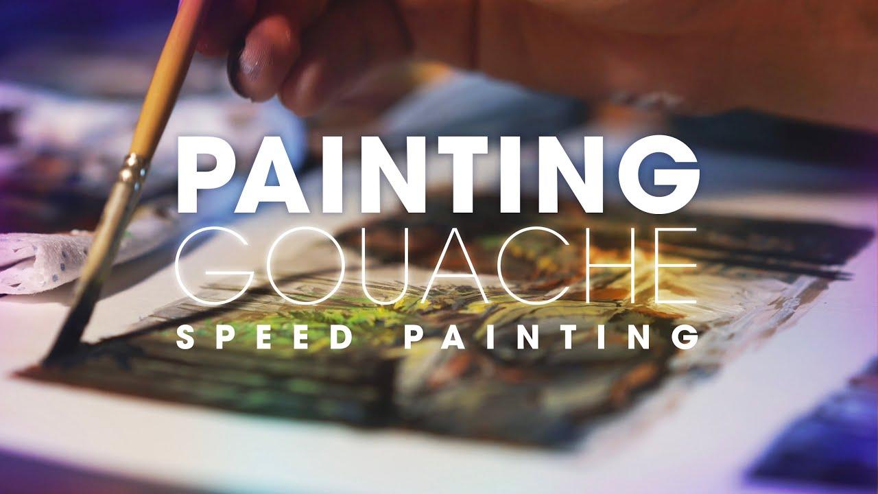 PAINTS ( Video gouache painting ) 4k