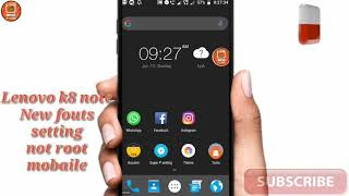 Lenovo K8 Plus Change Themes And Font Without Root | K8 Plus