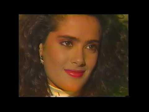 Teresa con Salma Hayek – promos y escenas de la novela del año 1989.