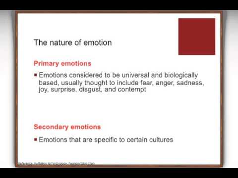 Unit 11 The Nature of Emotion (APSS 111/1A07/222/298 IntroductionTo/AppliedPsychology)