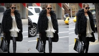 Nicole Richie Perfects NYC Cool in Fringe, Fur, and Leather! | Fashion Flash