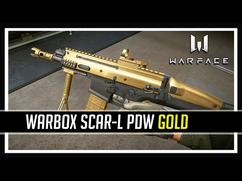 Warface Warbox SCAR L PDW Gold
