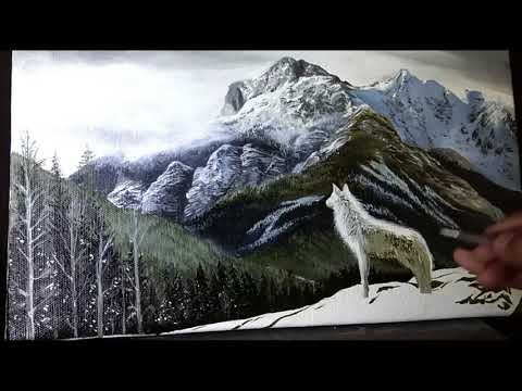 Part 2 Landscape Painting | How to Paint Clouds and Mountains | Acrylic Paintings