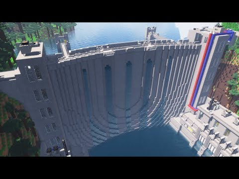 Minecraft - How To Build a working WATER DAM