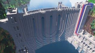ماين كرافت - كيفية بناء العمل مياه السد