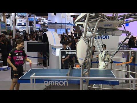 Smash hit: Ping pong robot takes on Olympian at Tokyo tech fair