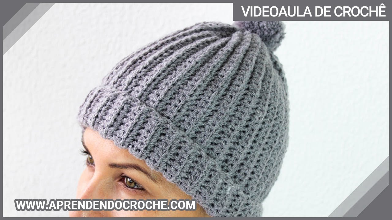 Gorro de Crochê Canelado - Aprendendo Crochê - YouTube ee85b42e07f