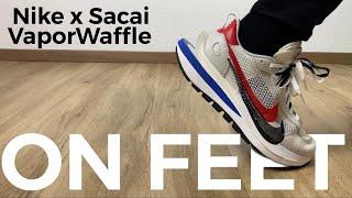 50 SECONDS ON FEET | NIKE x SACAI VaporWaffle 'Royal Fuchsia | fashion sneaker | 2020