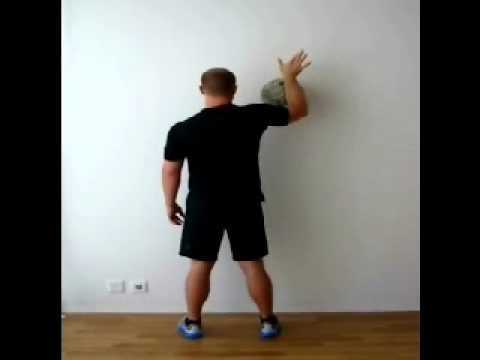 Rotator Cuff Exercises Wash the Wall with Ball - YouTube