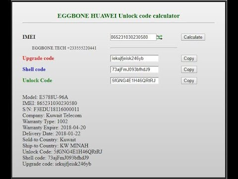 calculateurs imei