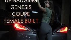 DEBADGING MY GENESIS COUPE | FEMALE BUILT | GIRL WORKING ON CAR