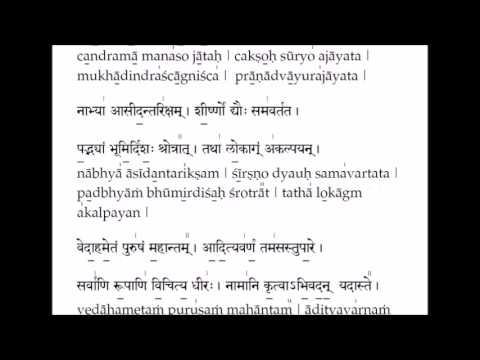 Purusha Suktam - Learning tutorial with lyrics