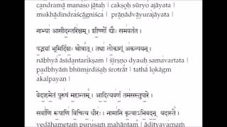Purusha Suktam ( Essence of Vedas )  - Learning tutorial with lyrics