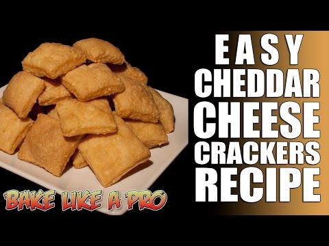 Cheddar Cheese Crackers Recipe - Only 3 Ingredients ! thumbnail
