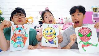 بولام تحدي الرسم !! رسمنا شخصية مضحكة