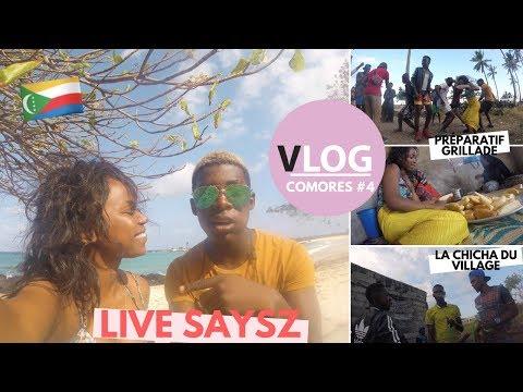 VLOG #4 | LES DIMANCHES AU BLED🇰🇲- LIVE SAYSZ - BEACH PARTY CHINDINI COMORES