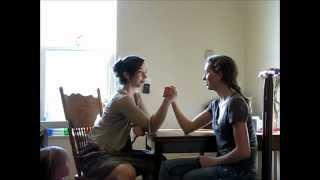 Sisters Arm Wrestling