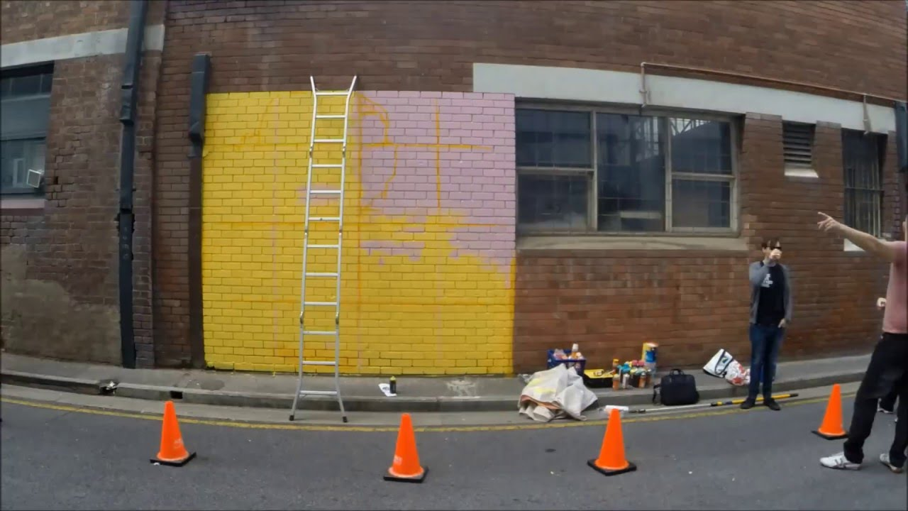 Street Art Explosion. Leah Grant @ Publisher\'s Hotel - YouTube