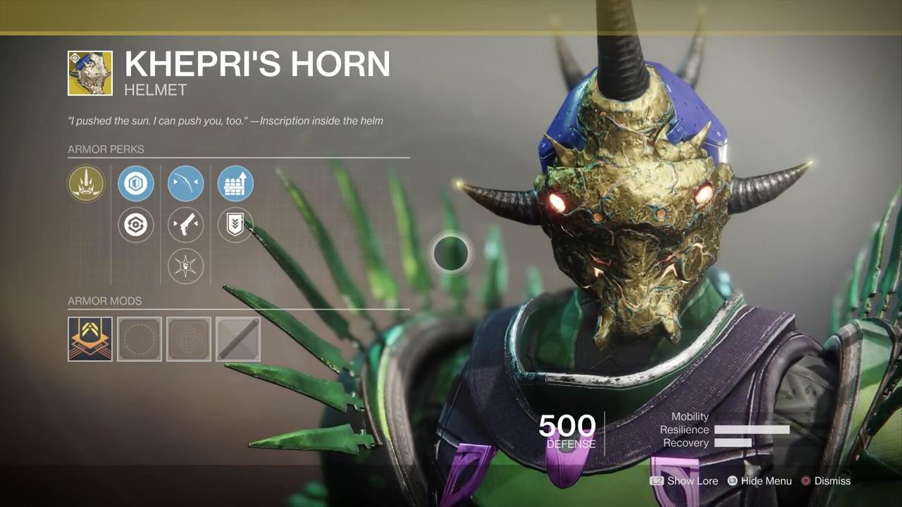 Destiny 2 Forsaken - Where Is Xur? Kehpri's Horn Titan Exotic Helm &  Crimson Hand Cannon (2018)