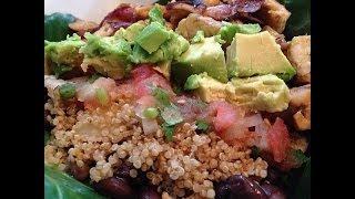 Healthy Burrito Bowl - HASfit Healthy Mexican Recipes - Healthy Taco Salad - Clean Eating