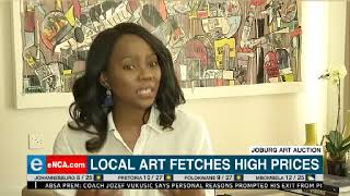 Collectors at a Johannesburg art auction have been painting the tow...
