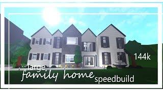 Roblox : Bloxburg - France grande maison familiale speedbuild 144k