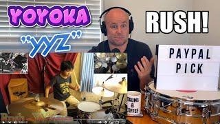 Drum Teacher Reacts: YOYOKA   Rush - 'YYZ' Drum Cover   (2021 Reaction)