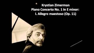Piano Concerto No 1 in E minor by Chopin performed by Krystian Zimerman
