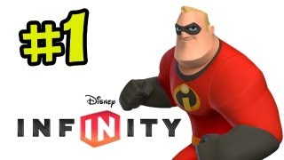 Disney Infinity Walkthrough Part 1 - The Incredibles (ps3,xbox 360,wii U Gamplay)