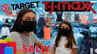 SHOPPING ALL DAY AT TARGET+TJMAXX CLOTHING HAULS 2020! EMMA AND ELLIE