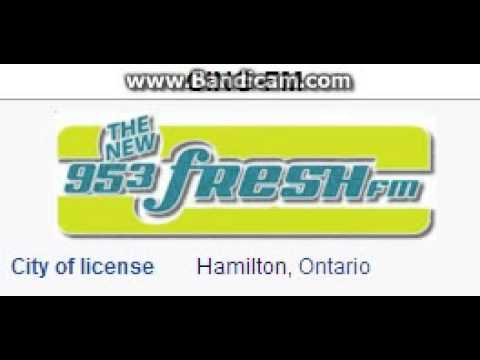 CING-FM 95.3 Fresh FM Hamilton, ON TOTH ID at 5:00 p.m. 6/22/2014