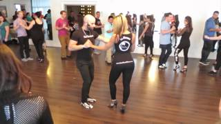 Bachata workshop with ''Ataca'' & ''La Alemana'' at the Island Touch night on January 4th 2015