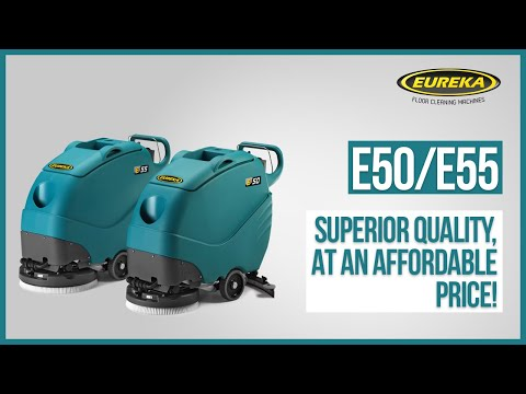 WALK-BEHIND SCRUBBER-DRYERS   Eureka Professional Cleaning Machines E50 & E55
