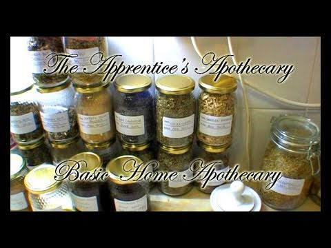 Herbal Medicine Basic Home Apothecary / Kitchen Lab Introduction