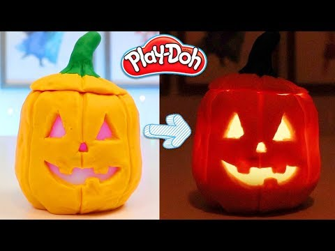 How To Make Real Glowing Play Doh Jack O Lantern! Fun & Easy DIY Halloween Crafts!