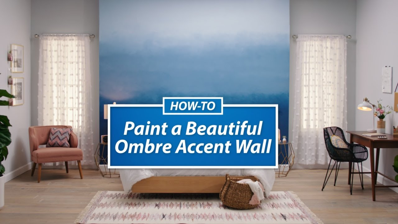 Accent Walls Paint Ideas How To Paint A Beautiful Ombre Accent Wall
