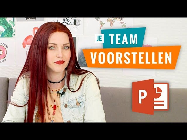 Je team voorstellen in PowerPoint