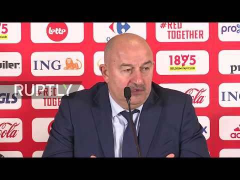 LIVE: Press conference following Belgium vs Russia Euros qualifier
