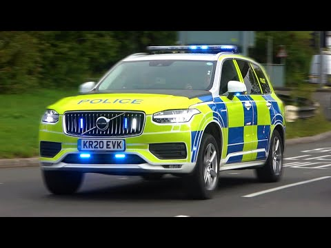 *BRAND NEW POLICE VOLVO XC90!* ARMED Police Cars, Fire Engines & Ambulances Responding!