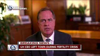 University Hospitals CEO left as fertility clinic crisis unfolded