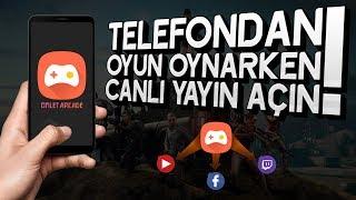 TELEFONDAN OYUN OYNARKEN CANLI YAYIN AÇIN! | Omlet Arcade