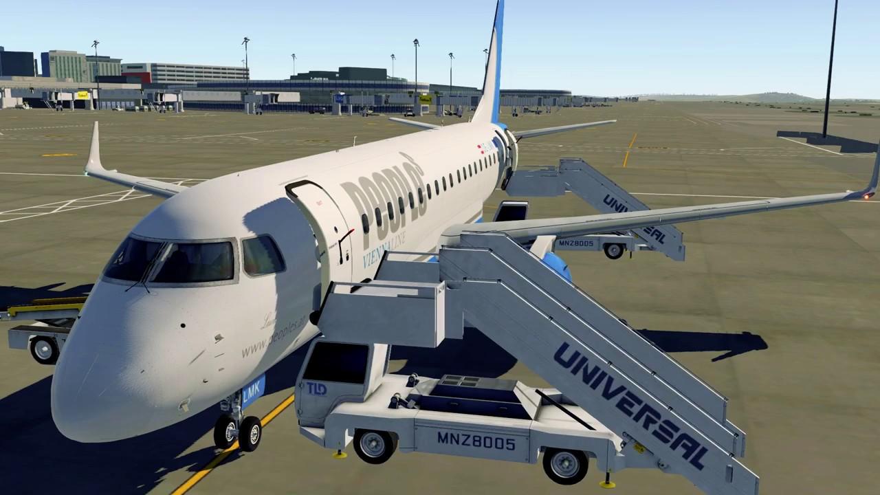 [X-Plane 11] X-Crafts Embraer E175 V2 2 People's ViennaLine from Vienna to  St Gallen-Altenrhein