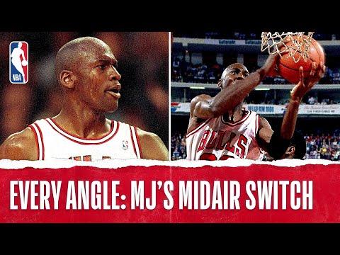NBA Vault: 1991 Michael Jordan Midair Hand Switch