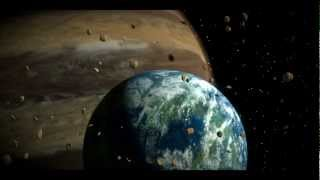 Blender: extraterrestrial planet with asteroid field